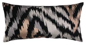 Nanette Lepore Skin Embroidered Pillow Neutral/Metallic Down Fill 24NL21CC26OB