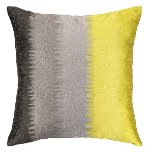 Nanette Lepore Ombre Embroidered Pillow Citron Down Fill 24NL33EC20SQ