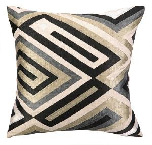 Trina Turk Cajon Neutral Embroidered Pillow 24TT103AC20SQ