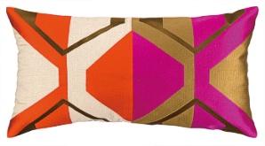 La Playa Magenta Embroidered Pillow Down Fill 24TT87AC26OB