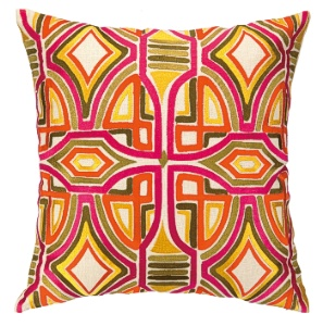 Del Mar Perismmon Embroidered Pillow 24TT91AC20SQ