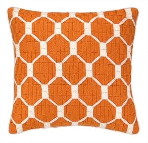 Trina Turk Montebello Cantaloupe Bargello Pillow Down Fill 30TT100CC20SQ