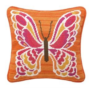 Trina Turk Mariposa Pink Needlepoint Pillow Down Fill 30TT75BC12SQ