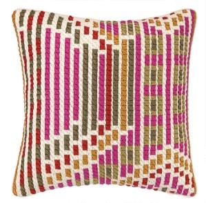 Trina Turk Madera Persimmon Bargello Pillow Down Fill 30TT90AC20SQ