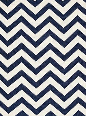 Schumacher Fabric - Antibes Chevron - Navy 65920