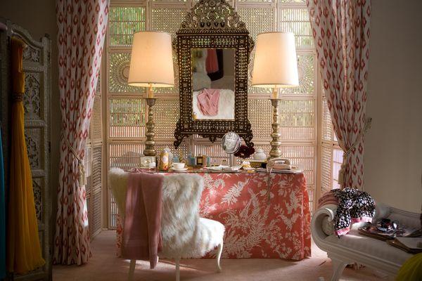 Ethnic Pattern Drapery Interior Decor