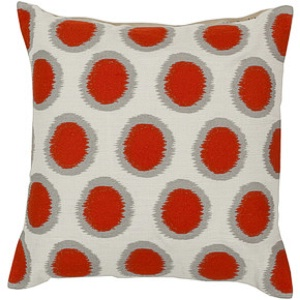 Surya Orange Ethnic Pillow - AR092