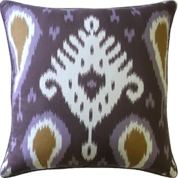 Ryan Studio Pillow - Batavia Ikat - Amethyst 22x22