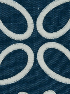 Beacon Hill Fabric - Crown Scroll - Indigo