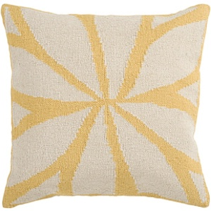 Surya Yellow Geometric Pillow - FA012D