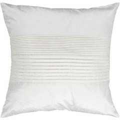 Surya White Silk Solid Pillow - HH017