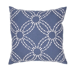 Jaipur Pillow - Arja - Indigo & White