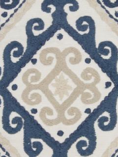 Beacon Hill Fabric - Mela Stripe - Indigo