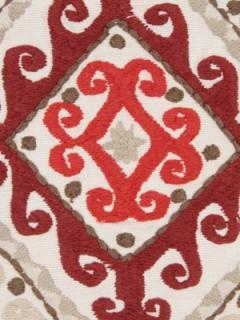 Beacon Hill Fabric - Mela Stripe - Vermillion