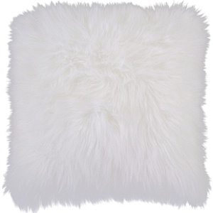 Surya Pillow white faux fur - P0257