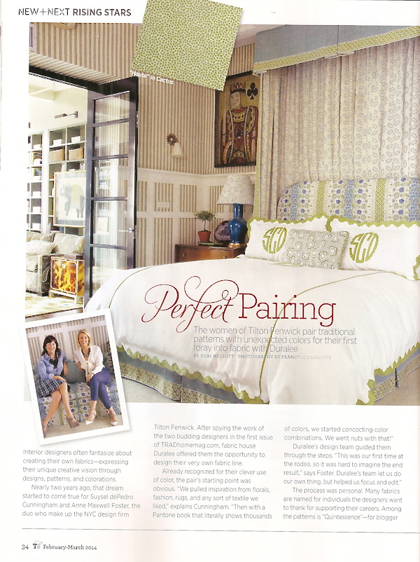 Tilton Fenwick Traditional Home Feature Interior Decor Fabric