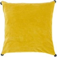 Surya Yellow Velvet Solid Pillow - VP007