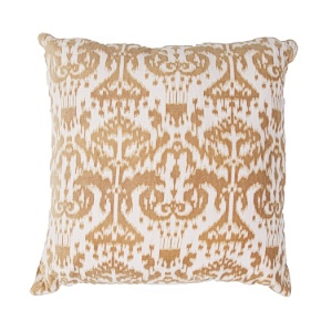 Jaipur Ethnic Ikat Kilim Throw Pillow - Fluffy - Cream & Terra WAR04