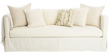 plain white sofa interior decor throw pillows