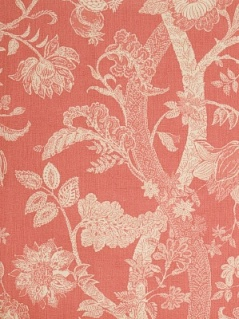 Fabricut Fabric - Batik Tree - Coral 2079903
