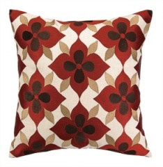 Coco Cozy Pillow -  Flower - Brown/Rust/Tan 24CZ07EC20SQ
