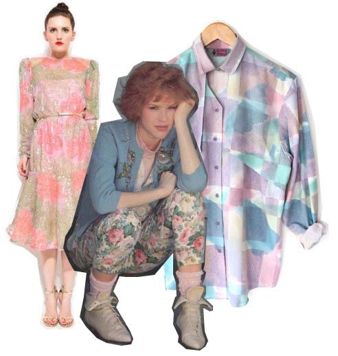 80s watercolor fashion dresses shirt molly ringwald