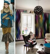 Abstract Bold Interior Decor New York Fashion Week Trends Rodarte Fall 2014 2015