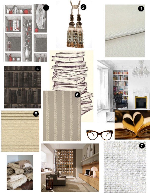 bookworm interior decor decorator mood board monday inspiration