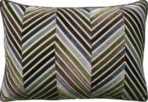 interior decor chevron green brown pillow design ryan studio
