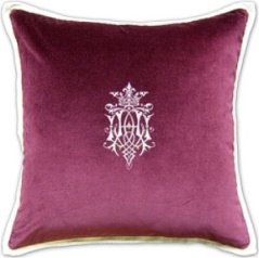ryan studio pillow pink velvet design applique linen ryan studio