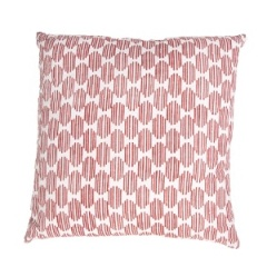 Jaipur Pillow - Alpine - Pure Linen & RedJaipur Pillow - Alpine - Pure Linen & Red MOE05