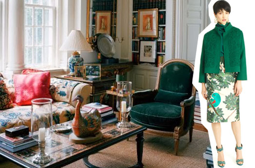 interior decor design fashion oscar de la renta velvets