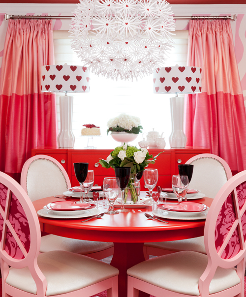 valentines day interior decor rooms hearts pink red