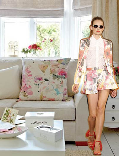 Watercolor Fashion to Decor Spring 2014