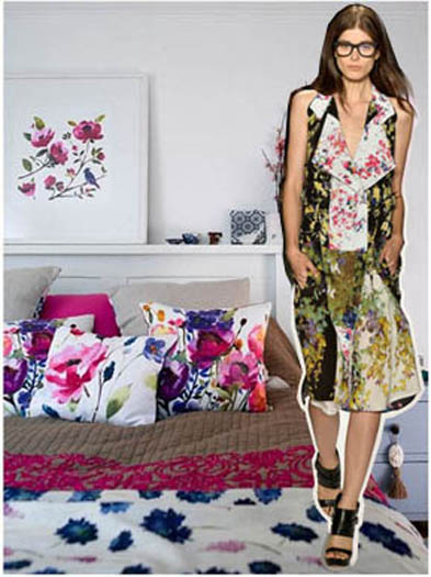Spring 2014 Fashion to Decor Watercolor Florals