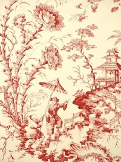 Scalamandre Wallpaper - Pillement Toile - Claret WP81561-001
