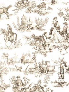 Cavalier Toile - Soft Black on Cream 0578908