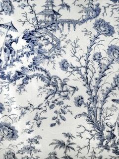 Scalamandre Fabric - Pillement Toile - China Blue 11111-006