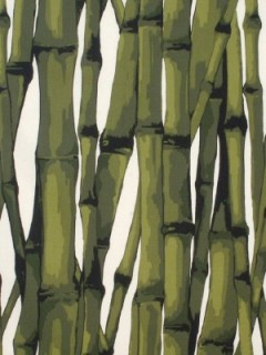 Scalamandre Fabric - Bamboo Grove - Greens on Ivory 16500-001