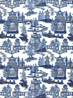 Schumacher Fabric - Nanjing - Porcelain 174431