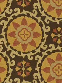Kravet Fabric - Exotic Suzani - Sunset