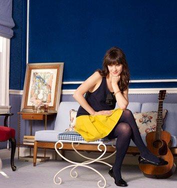 Zooey Deschanel's Home Decor Music Room