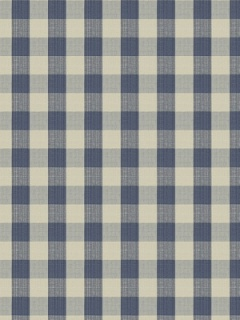 Stroheim & Romann Fabric - Biron Strie Check - Blue 6341411