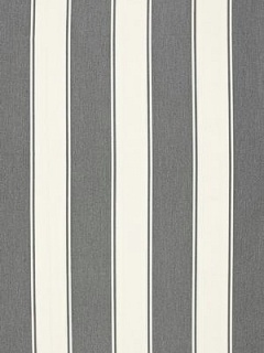 Schumacher Fabric - Cannes Awning Stripe - Oxford Grey65890