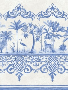 Cole & Son Wallpaper - Rou Border - Cobalt Blue 99_10042_CS