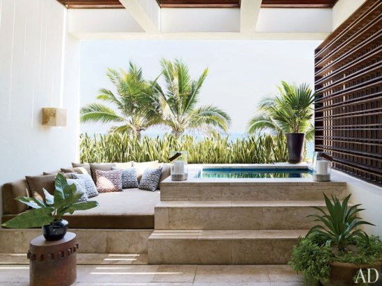 George Clooney Mexican Home Decor Outdoor Pool Space