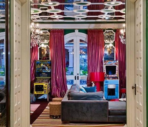 Christina Aguilera's Home Game Room