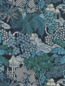 Beacon Hill Fabric-  Hidden Temple - Emerald