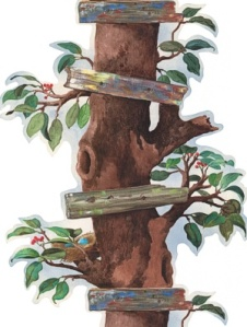 York Wallpaper - Tree House Panel - BT2858B