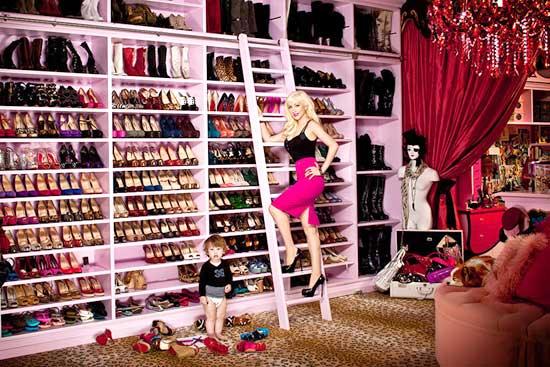Christina Aguilera's Closet Shoes Interior Decor Home